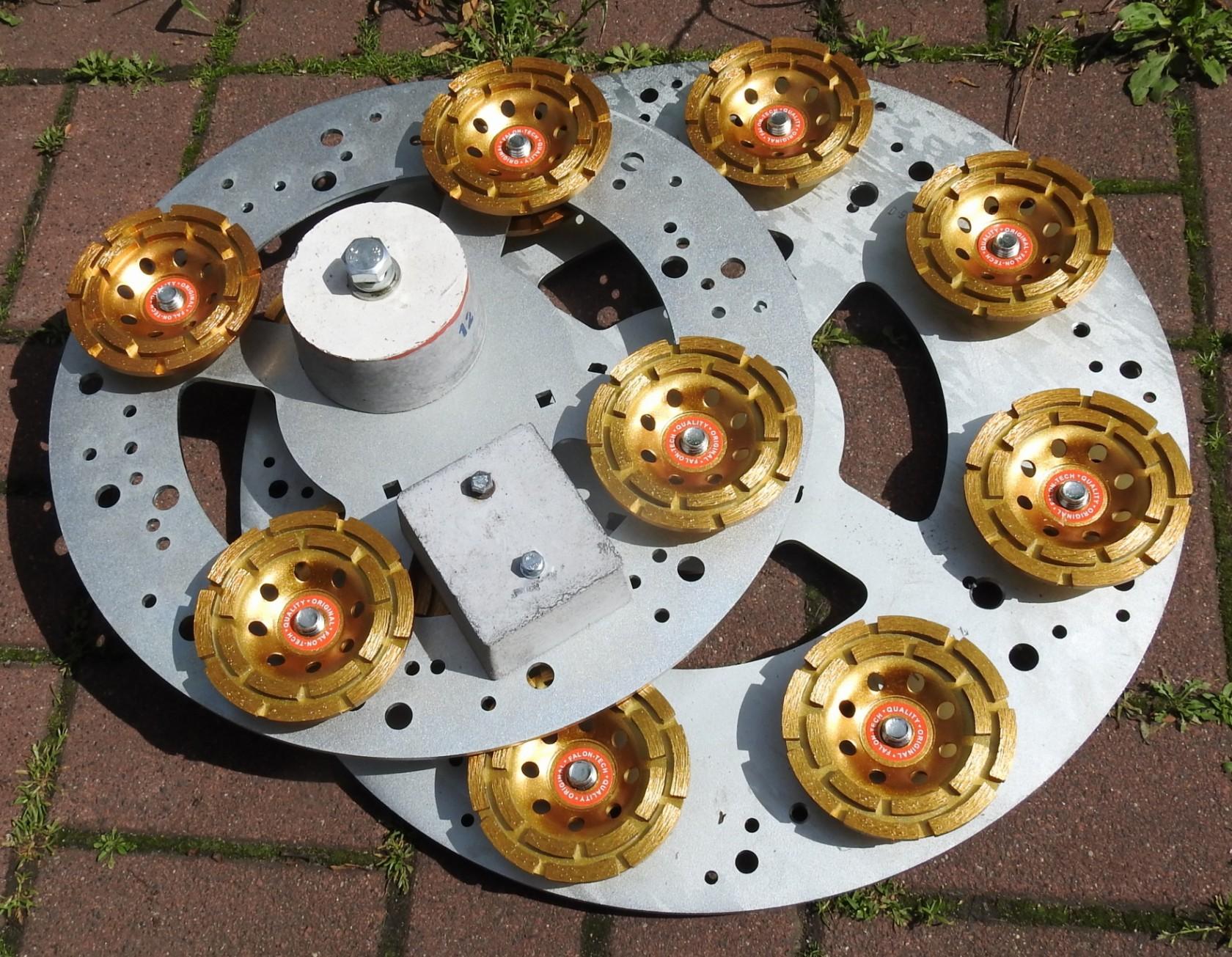 Tarcze (5mm) 405 i 500 mm. Do mocowania różnych narzędzi ściernych>Produkt Dekor Poznań